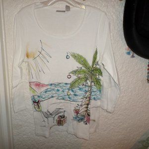 Chico's Sunny Florida Harlow Tee Top Chico's 1 S/M